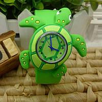 """Часы детские """"Черепаха"""", цвет зелёный"""