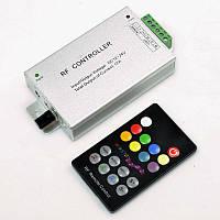 RGB контроллер музыкальный RF радио 12A (18 кнопок на пульте)