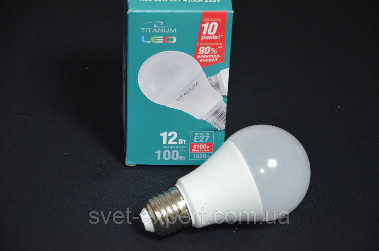 LED лампа TITANUM A60 12W 4100K E27 220V