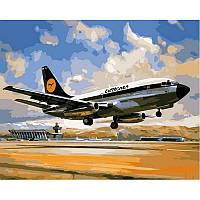 "VP828 Картина по номерам ""Боинг 737 Люфтганза"", 40*50 см, Babylon Turbo"