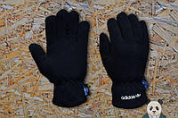 Флисовые зимние мужские перчатки адидас/Adidas