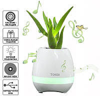 Музыкальный цветочный горшок, Умный цветочный горшок, TOKQI K3, Цветочный горшок- колонка, Портативная колонка