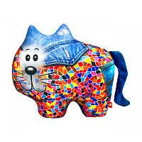 """Антистресовая игрушка мягкая """"SOFT TOYS 61 """"Кіт"""" джинсовый, DT-ST-01-61"""