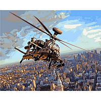 "VP830 Картина по номерам ""Ударный вертолет АН 64 Апач"", 40*50 см, Babylon Turbo"