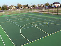 Спортивное бесшовное покрытие  Alsatan MF Sport для игровых, площадок, теннисных кортов, детских площадок