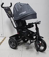 Трехколесный велосипед-коляска Azimut Crosser T-400 TRINITY AIR ЭКО New 2018 серый ***