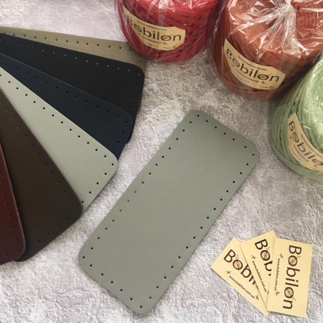 Дно уплотненное прямоугольной формы. Цвет Серый Для вязаных сумок и рюкзачков