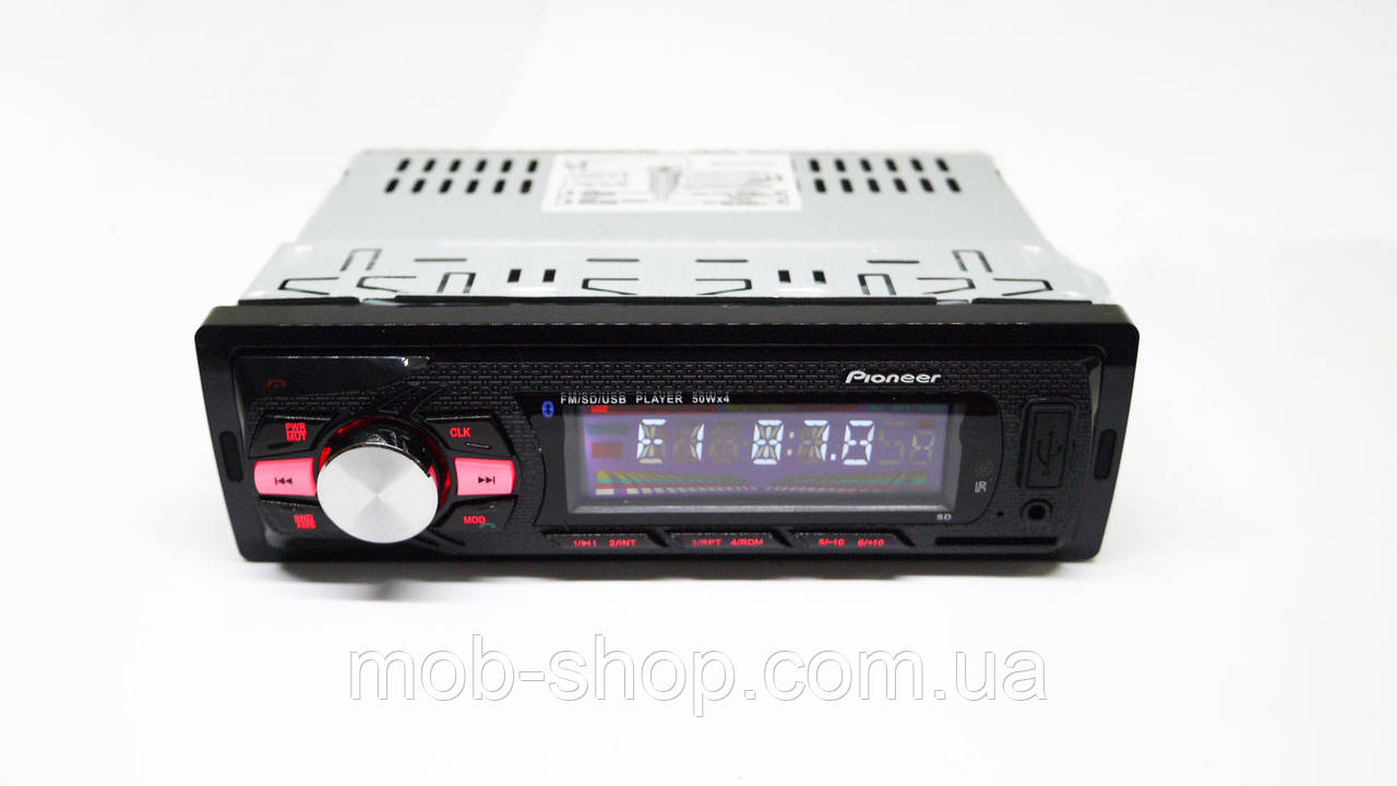 Автомагнитола пионер Pioneer 6084 Bluetooth+MP3+FM+USB+SD+AUX