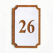 Табличка с номером для двери, фото 2