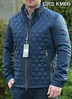 Мужская качественная куртка стеганая ромбом
