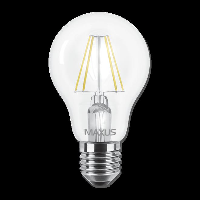 Светодиодная LED лампа MAXUS, 8W, 4100K, 220V, A60, Е27