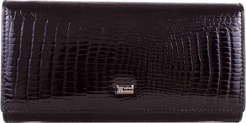 Кошелек из полированной кожи с фактурой под рептилию WANLIMA (ВАНЛИМА) W62041170014-black черный