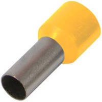 Изолированный наконечник втулочный e.terminal.stand.e0508.yellow 0.5 кв.мм, желтый