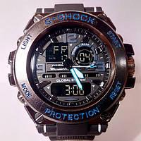 Часы Casio G-Shock Protection чер/син, фото 1