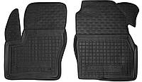 Полиуретановые передние коврики в салон Ford Tourneo Connect II короткая база 2014- (AVTO-GUMM)