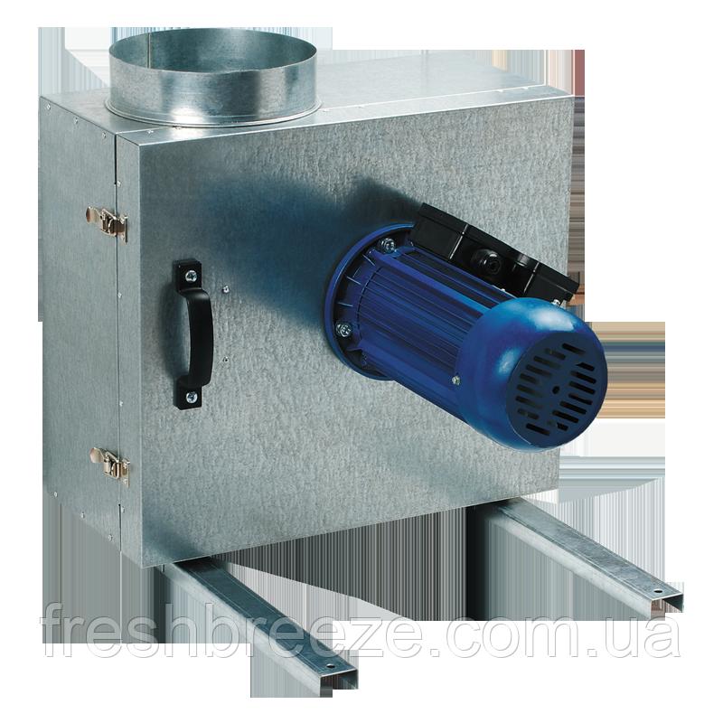 Кухонный вентилятор в шумоизолированном корпусе производительностью до 700 м³/ч. вентс КСК 150 4Е