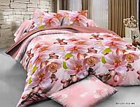 Двуспальный набор постельного белья из Ранфорса №015