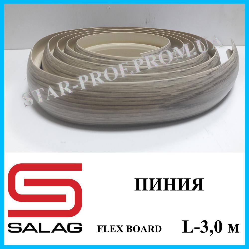 Пластичный порог шириной 40 мм Salag Flex Board, 3,0 м Пиния