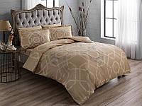 TAC евро комплект  постельного белья saten Benard gold