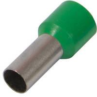 Изолированный наконечник втулочный e.terminal.stand.e1012.green 1,0 кв.мм, зеленый