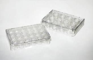 Культуральный планшет 96 лунок, 128х85х17, плоскодонный, поверхность роста 0,335 см ², стерильный
