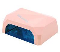 Лампа LED+CCFL для маникюра 36 Вт розовая, фото 1