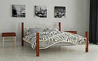 Кровать Фелисити 140х190 см металлическая полутораспальная кровать Мадера, Доставка 250грн в Украине