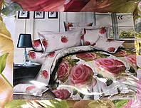 Постельный комплект 3Д ,,Аромат Весны,, двухспальный, фото 1