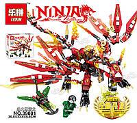 """Конструктор аналог Lego """"Красный Огненный Дракон"""" 299 деталей (Серия Ninjsaga) ТМ Lepin"""