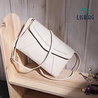 Женская маленькая сумка через плече/на плече белого цвета, фото 1