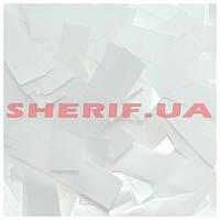 Конфетти-метафан белое пленка, 1 кг 11632