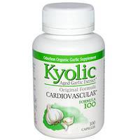Wakunaga - Kyolic, Экстракт зрелого чеснока, для сердечно-сосудистой системы, формула 100. (100 капсул)
