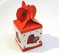 Коробка сборная красная