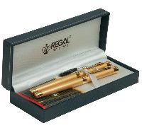 Набор ручек (П+Р) золотой в подарочном футляре Regal