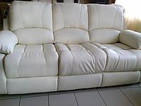 """Кожаный диван прямой раскладной """"Sinatra"""""""