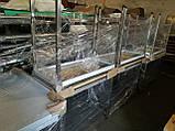 Стол производственный из нержавеющей стали с полкой и бортом 600х500х850, фото 4