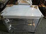 Стол производственный из нержавеющей стали с полкой и бортом 600х500х850, фото 2