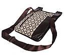Мужская сумка из кожзаменителя 303805 коричневая, фото 5