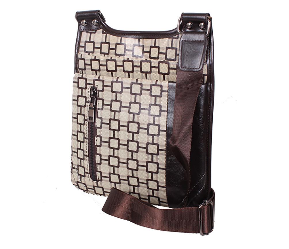 Мужская сумка из кожзаменителя 303805 коричневая