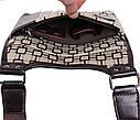 Мужская сумка из кожзаменителя 303805 коричневая, фото 6