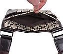 Мужская сумка из кожзаменителя 303805 коричневая, фото 7