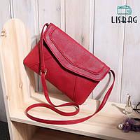 Маленькая женская сумка через плечо красного цвета, фото 1