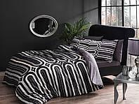 TAC евро комплект  постельного белья saten delux Cloud gri