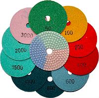 Алмазные гибкие шлифовальные круги «3-color»