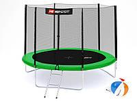 Батут Hop-Sport 10ft (305cm) green с внешней сеткой  для дома и спортзала , Львов