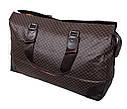 Дорожная сумка темно коричневого цвета, фото 2