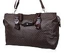 Дорожная сумка темно коричневого цвета, фото 4