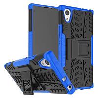 Противоударный двухслойный чехол Shield для Sony Xperia XA1 / XA1 Dual с подставкой