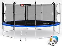 Батут Hop-Sport 16ft (488cm) blue с внутренней сеткой  для дома и спортзала, Львов