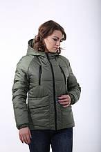 Красивая деми куртка Милара хаки (42-52)